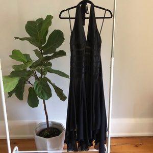 BCBG MAXAZRIA black silk halter dress